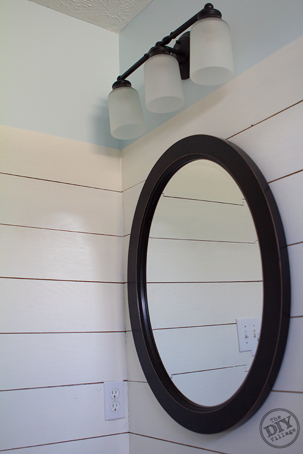 Guest Bathroom Oval Mirror