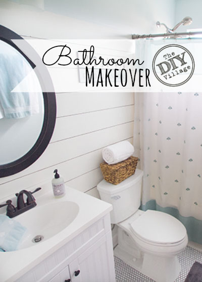 Small bathroom makeover - from dated to bright and fresh.  This space looks twice as large.