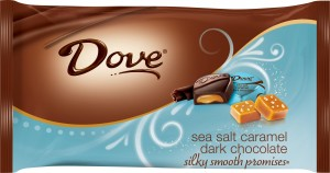 Yumm Dove Sea Salt dark chocolate with caramel ... holy cow!