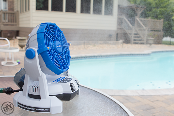 Pool Side Misting Fans : The arctic cove v bucket top mister