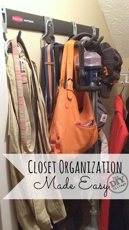 Fast Easy Closet Organization