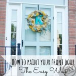 How to paint your front door - the Easy Way.