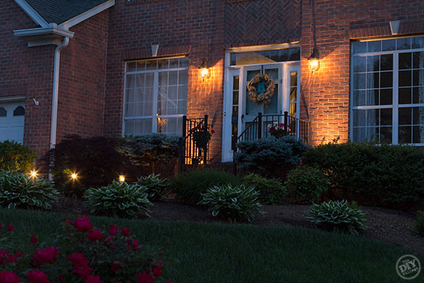 Lighting Curb Appeal Makeover
