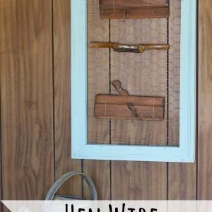 Hen wire display frame tutorial