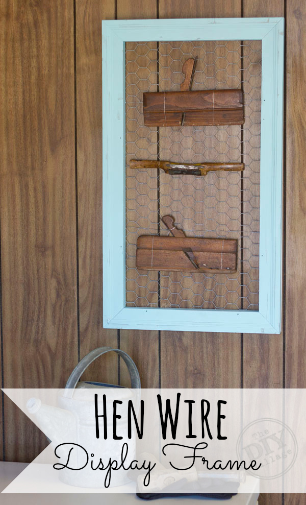 Hen wire display frame tutorial #ad #SeriouslyStrong