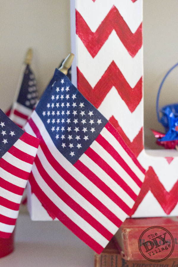 DIY Patriotic monogram