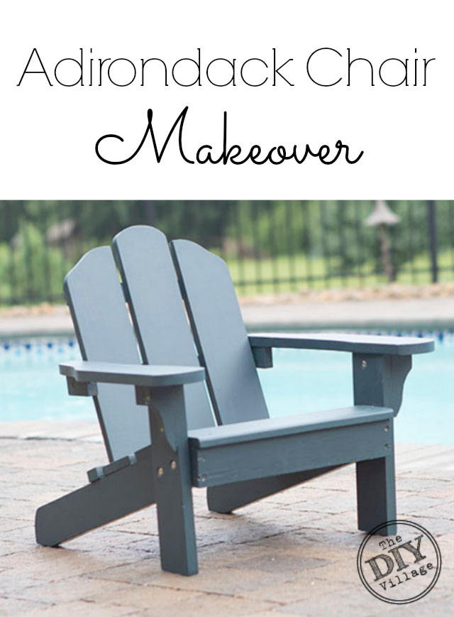 Adirondack Chair makeover using solid stain #spon #UpToTheTest