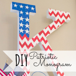 Fun personalized patriotic monogram!