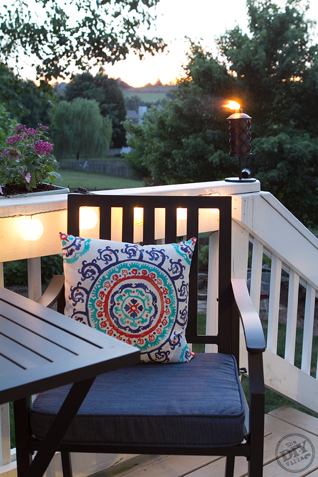 Outdoor Living Space Sunset
