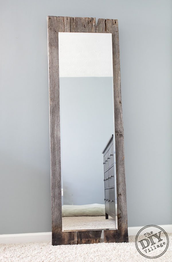 Reclaimed Rustic Barnwood Mirror The Diy Village