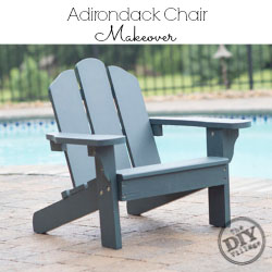 Adirondack Chair makeover using solid stain #UpToTheTest