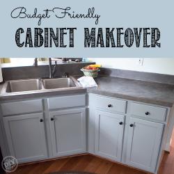 Budget friendly kitchen cabinet makeover