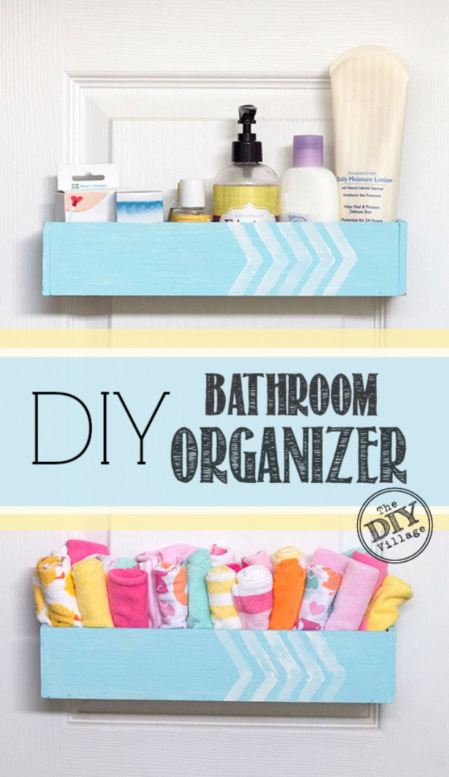 diy bathroom organizer - the diy village