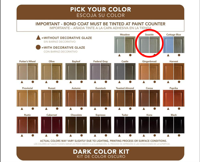 Rustoleum Cabinet Paint Kit Colors