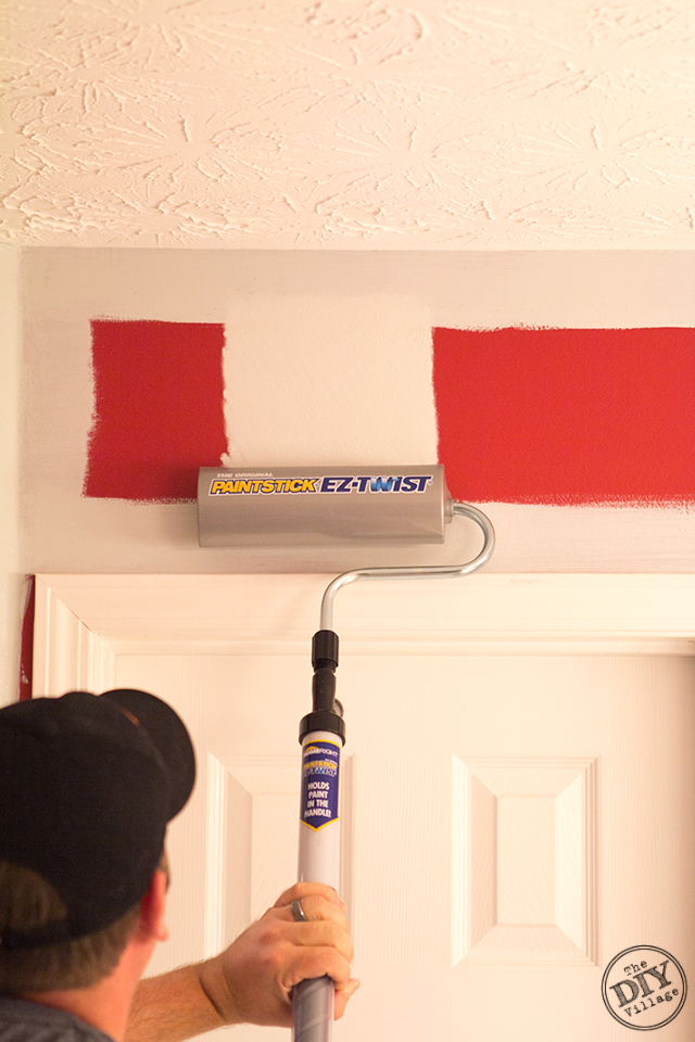 Covering Red Walls With the PaintStick EZ-Twist