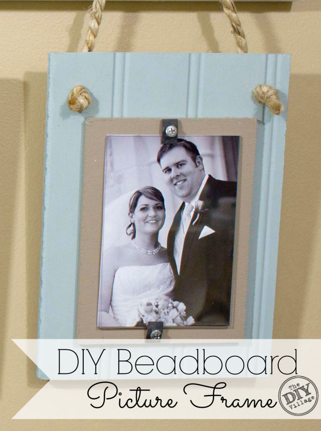 DIY Beadboard Picture Frame Tutorial