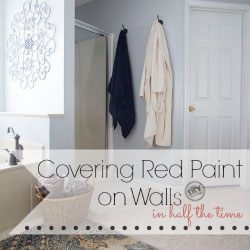 How to cover red paint on walls in half the time #UpToTheTest
