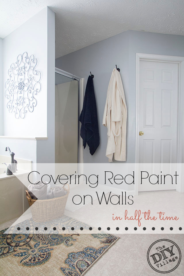 How To Cover Red Paint On Walls In Half The Time Uptothetest