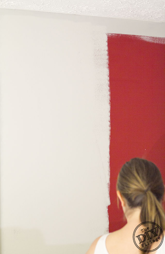 Red Paint Wall Covering Red Paint on walls in half the time