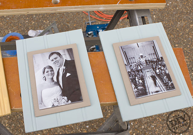 DIY beadboard picture frame tutorial.  Make frames for less than 1/4 cost of the ones in stores!  Awesome tutorial