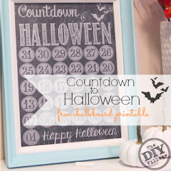 Countdown to Halloween free chalkboard printable