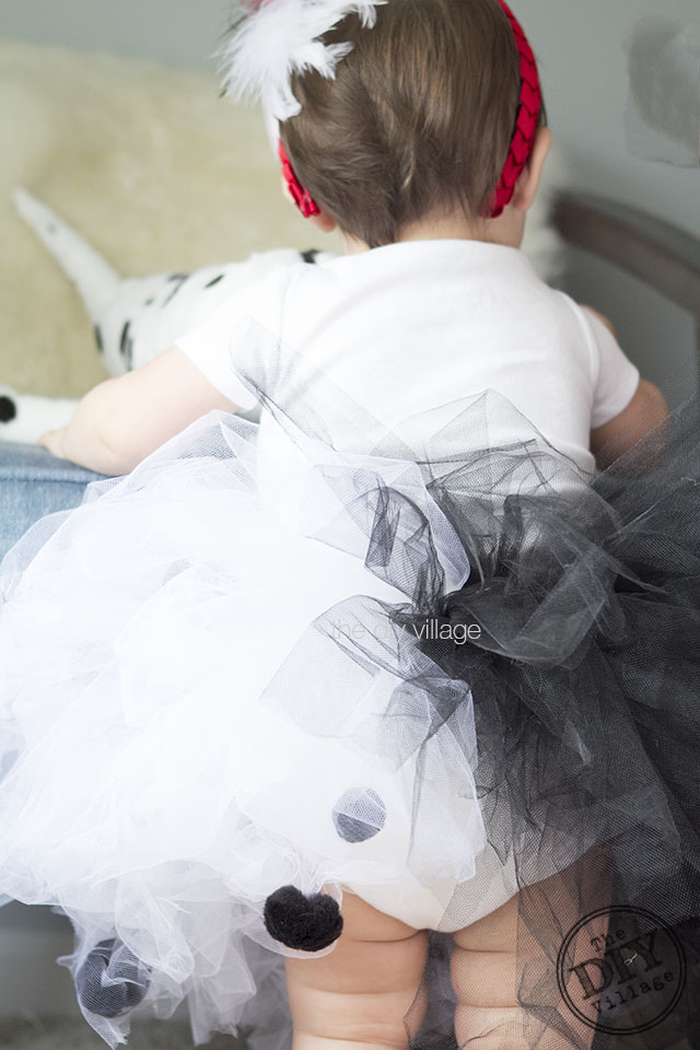 DIY Baby Cruella de Vil Halloween Costume idea for infant or toddler