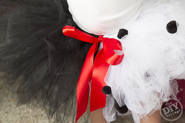 DIY Baby Cruella de Vil Halloween Costume idea for infant or toddler