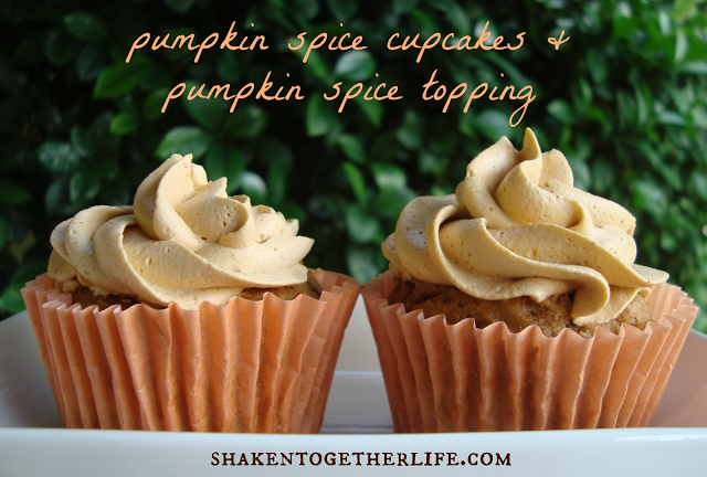 pumpkin spice cupcakes & topping BLOG