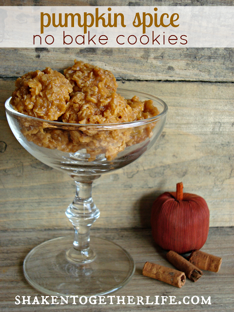pumpkin spice no bake cookies BLOG