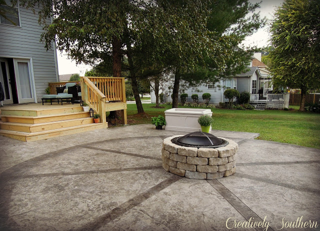 Build a Fire Pit by Creatively Southern