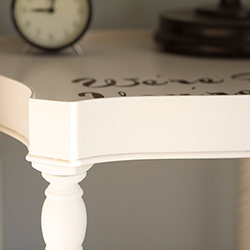Custom reverse stencil side table