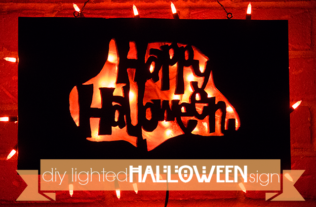 DIY Lighted-Halloween-Sign