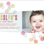 Josslyns first birthday invitation