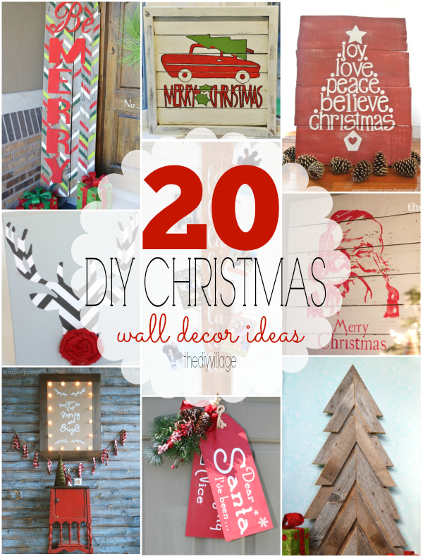 20 christmas wall decor ideas that any diyer can do - Twas The Night Before Christmas Decorating Ideas