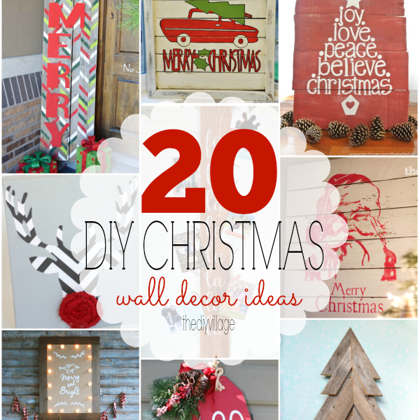 Christmas Wall Decor Diy : Diy christmas wall decor ideas the village