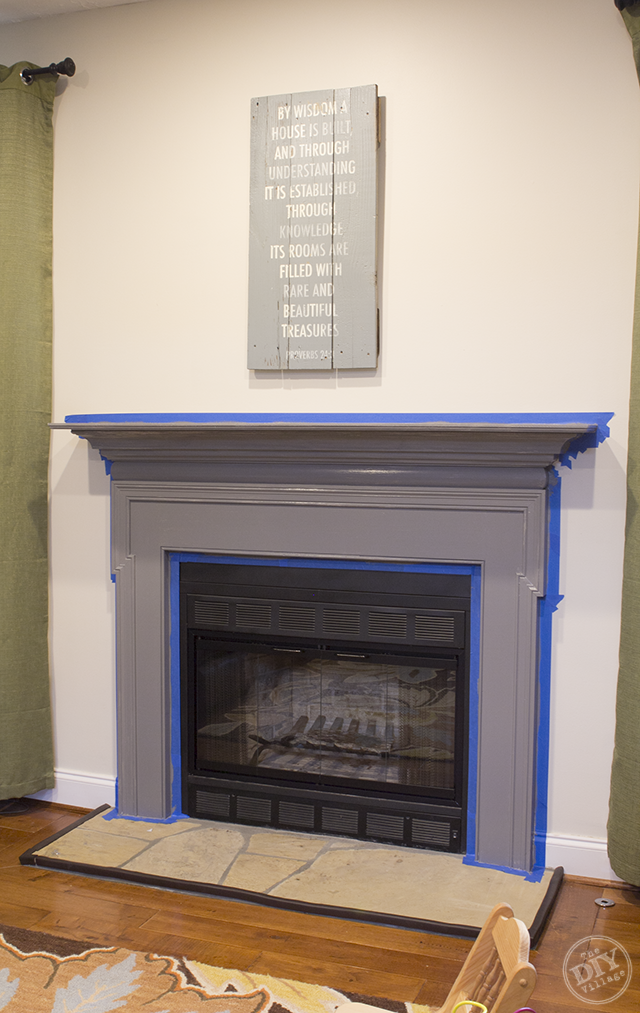 An easy fireplace mantel makeover that you can complete in just a few days that will totally transform the look of your builder grade fireplace.