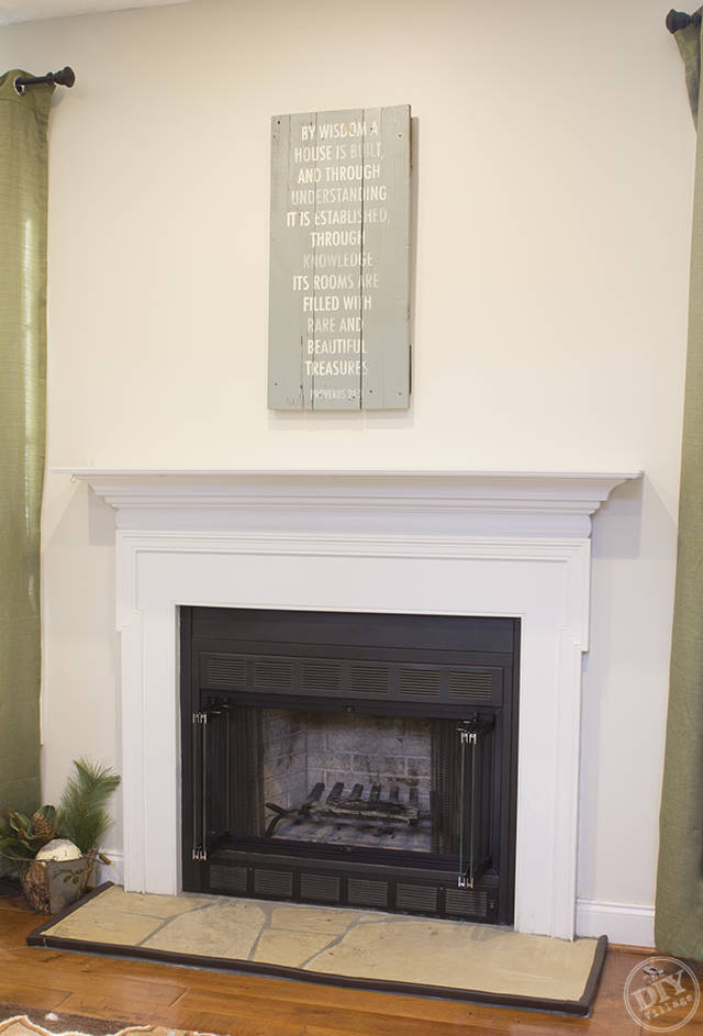 Mantle Before Makeover