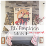DIY AirStone fireplace makeover with Dover Gray Mantel