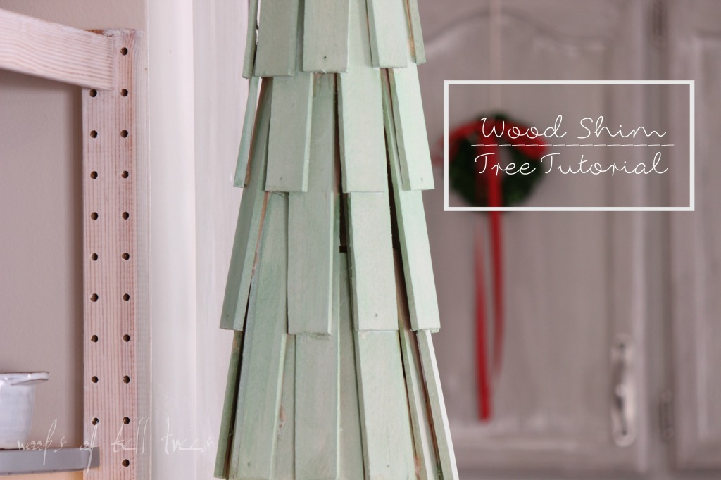 Wood Shim Christmas Tree Alternative Space Saving Ideas
