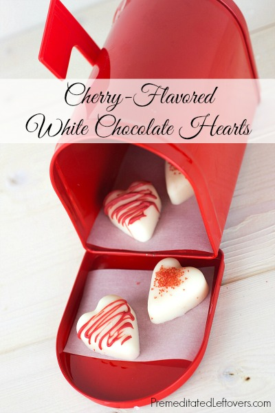 Cherry Flavored White Chocolate hears