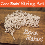 Gone Fishin' String Art