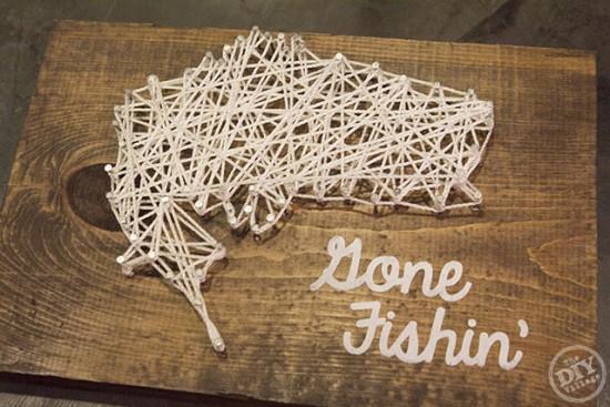 Gone Fishin' String Art