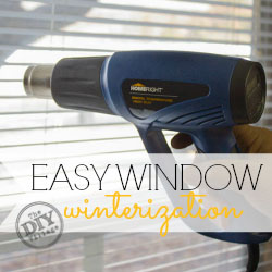 Conserve heat in your home during cold temperatures with easy window winterization