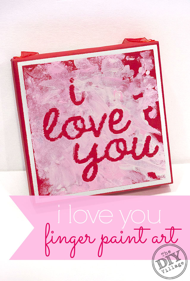 i love you finger paint art, perfect for tolddlers
