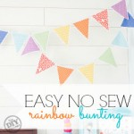 No Sew Rainbow Bunting