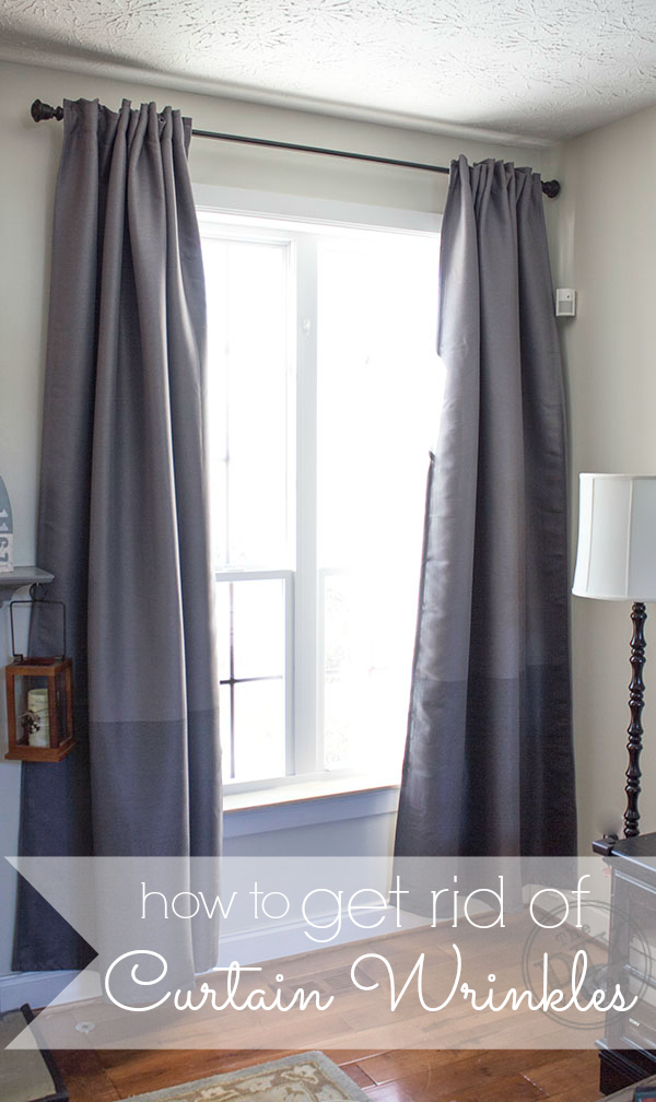 how to get rid of curtain wrinkles