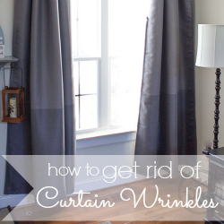 how to get rid of wrinkles in curtains sq