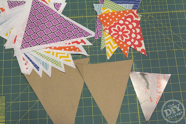 No sew rainbow bunting. Easy project perfect for a nursery, kids room, or party!