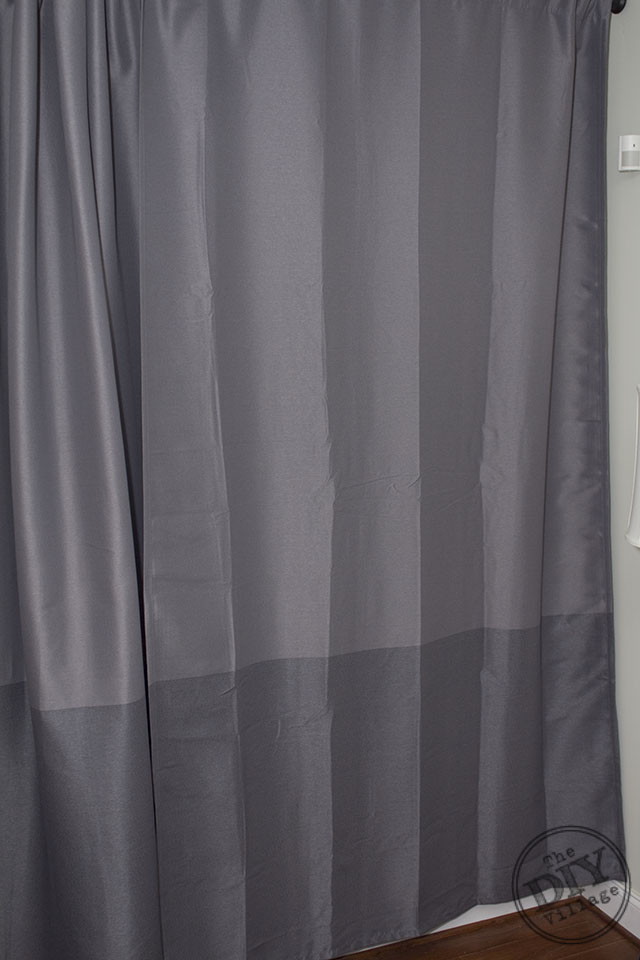 Yellow And Gray Chevron Shower Curtain