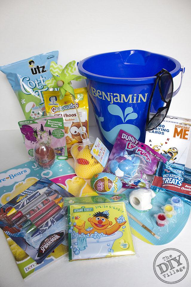 Easy toddler easter basket the diy village easy toddler easter basket for under 15 negle Image collections